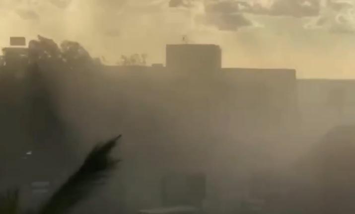 Tromba d'aria marina a Cefalù, choc e fuggi fuggi tra i bagnanti – VIDEO