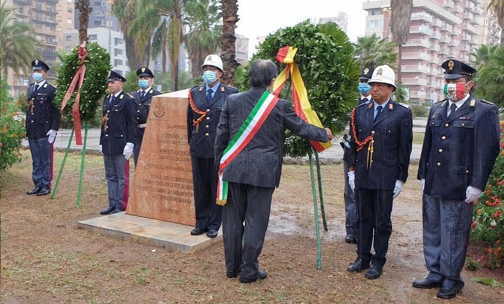 """Giornata di commemorazione per Gaetano Costa, Ninni Cassarà e Roberto Antiochia. Sindaco Orlando: """"Una ferita ancora aperta"""""""