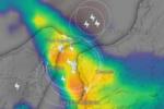 Violento nubifragio in piena azione sullo Stretto di Messina, rovesci e grandinate: evitare gli spostamenti
