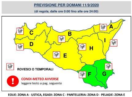 Weekend di nubifragi in Sicilia: calano le temperature e arrivano i temporali, diramata allerta gialla