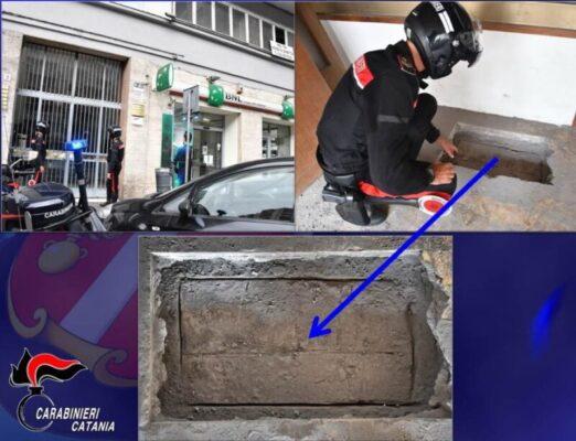 Catania, il buco sospetto di via Giacomo Leopardi: nel progetto dei malviventi una rapina alla BNL