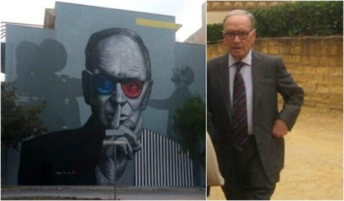 Murale per Ennio Morricone, il ricordo del genio della musica recentemente scomparso