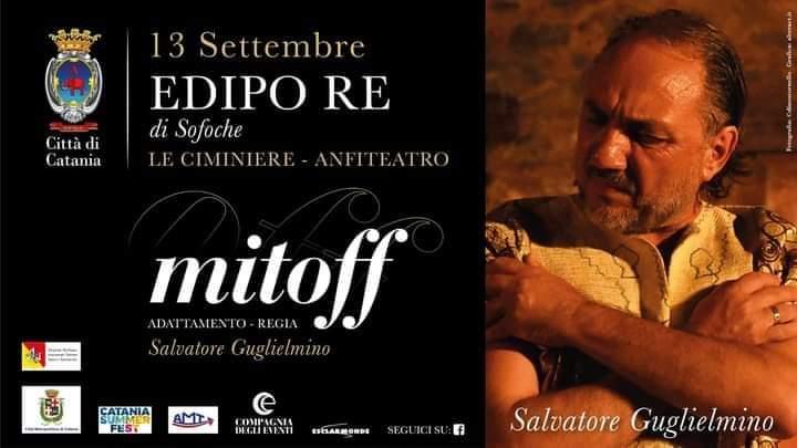 Dopo Noto Salvatore Guglielmino è Edipo Re alla Ciminiere di Catania. Al tramonto in replica domenica 13 settembre