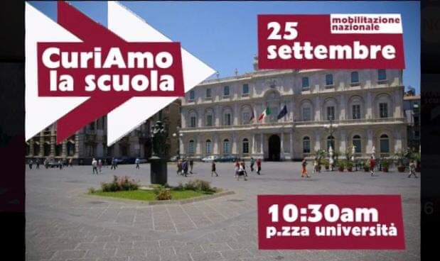 """""""Curiamo la scuola"""", a Catania due manifestazioni contro il Ministero dell'Istruzione"""