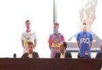 Calcio Catania: Izco, Claiton, Reginaldo e Santurro presentano le nuove divise ufficiali