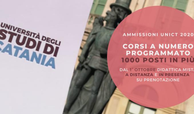 Boom di immatricolazioni all'Università di Catania: mille posti in più nei corsi di laurea a numero programmato