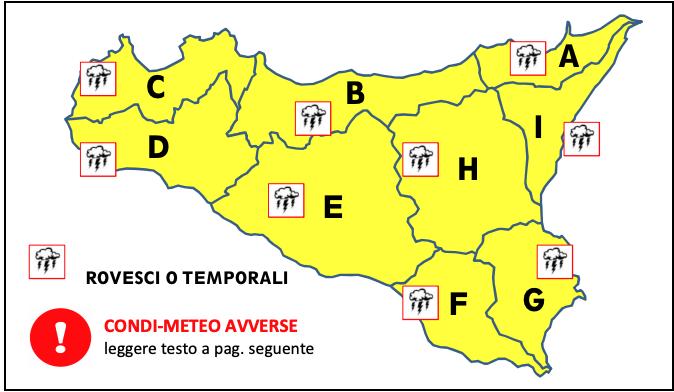 Allerta meteo gialla su tutta la Sicilia, inizia il countdown per le piogge: previsti rovesci già fra qualche ora