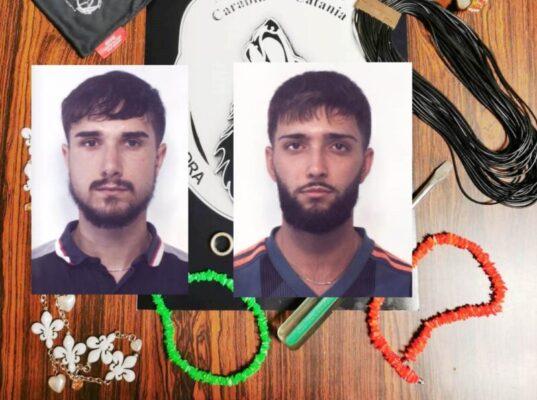 Due topi di appartamento presi in trappola dai Lupi: arrestati i catanesi Giovanni Marcanzò e Massimo Mugheddu