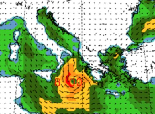 """L'uragano """"Udine"""" grazia la Sicilia e si abbatte sulla Grecia: venti fortissimi e piogge intense"""