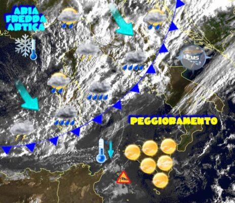 Ondata di maltempo in Sicilia, temperature in drastica discesa: ecco cosa ci attende nelle prossime ore