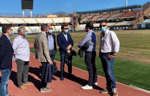 """Lavori al manto erboso del """"Massimino"""", riunione allo stadio tra l'assessore e i vertici del Calcio Catania: ecco la situazione"""