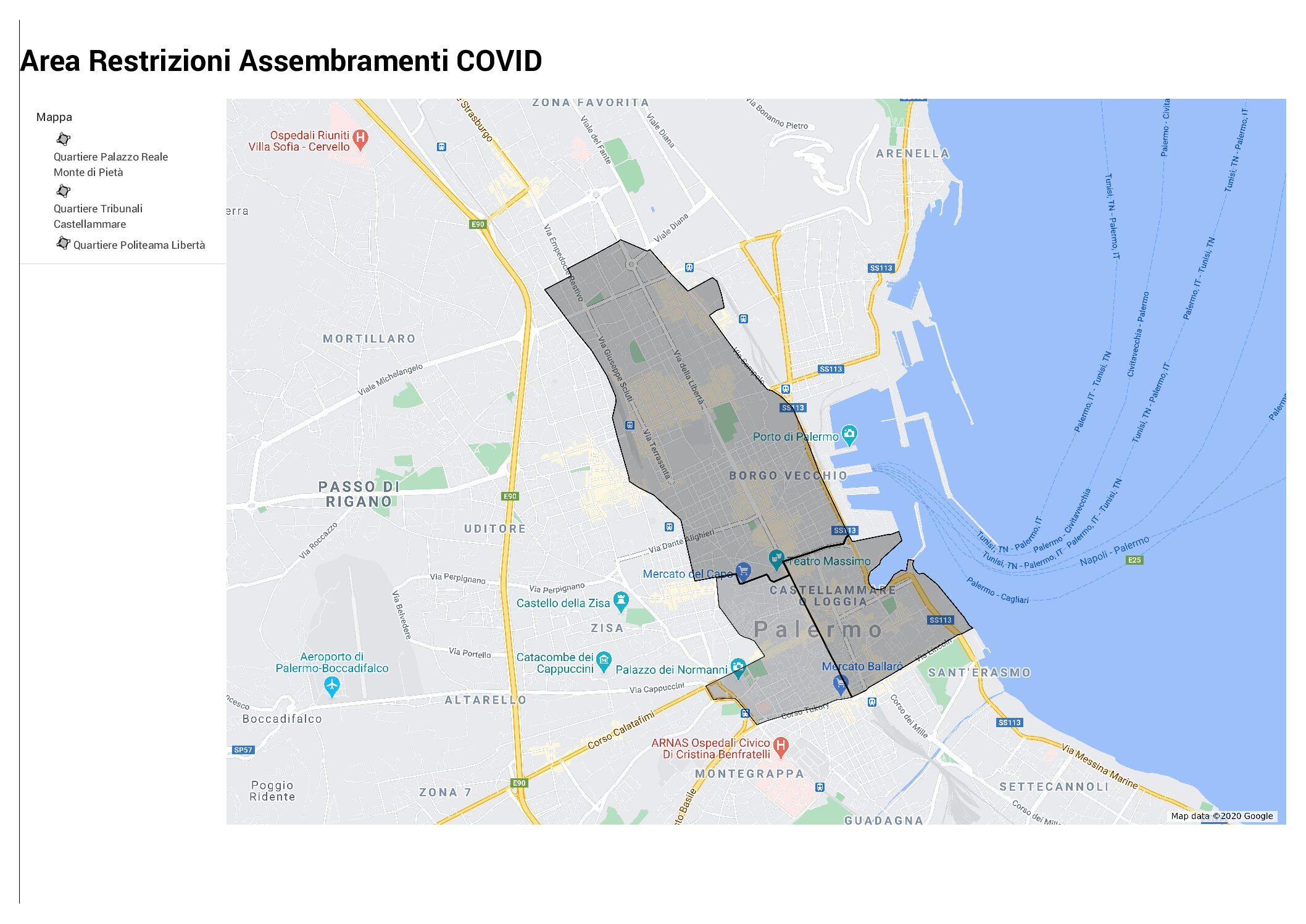 Palermo, divieto di stazionamento dalle 21 alle 5 nel centro cittadino: ecco quali sono le zone interessate