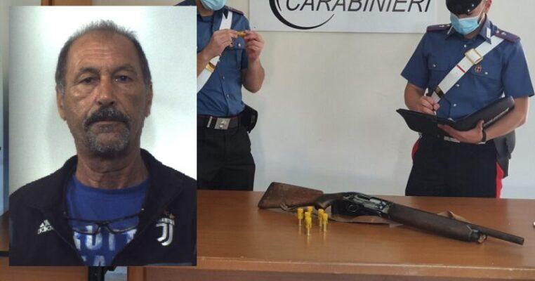 Deteneva illegalmente un fucile in casa, a Pachino un arresto dopo la perquisizione: trovate anche cartucce