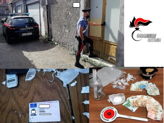Pusher catanese distratto dimentica la patente sul tavolo insieme alla cocaina: arrestato