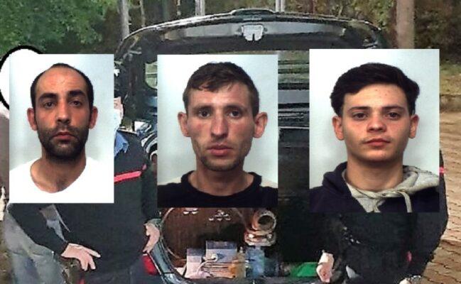Furti in un'area rurale del Catanese, arrestati tre ladri: avevano razziato dei casolari del luogo