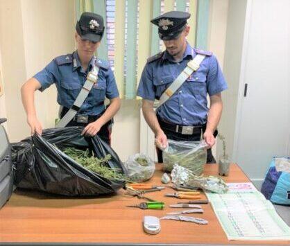 Ai domiciliari ma con in casa chili di droga, arrestato rumeno 22enne