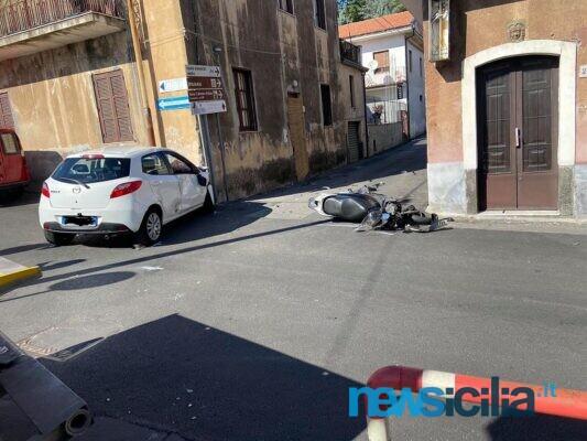Tragedia nel Catanese, incidente tra auto e scooter a Trecastagni: muore sul colpo Giovanni Sciuto, ferito il figlio