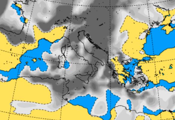 Meteo Sicilia, inizio di settimana bagnato dai temporali: in arrivo forte vento e temperature in calo
