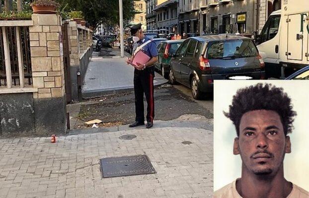 Catania, eritreo a terra ubriaco: intervengono i carabinieri e i soccorsi ma lui li aggredisce