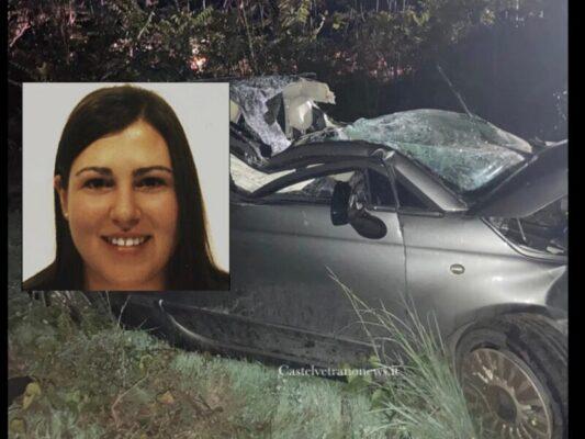 Partanna a lutto, muore la figlia dell'ex sindaco: così Francesca Cuttone è finita contro un albero