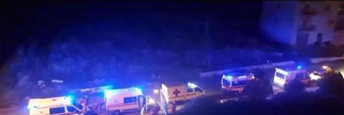 """Nel silenzio della notte, la Sicilia """"ricorda"""" Bergamo: una colonna di ambulanze sfila per il paese"""