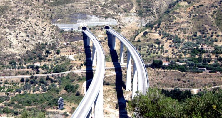 A20 Messina-Palermo: inizio manutenzione cavalcavia e consegna lavori su viadotti