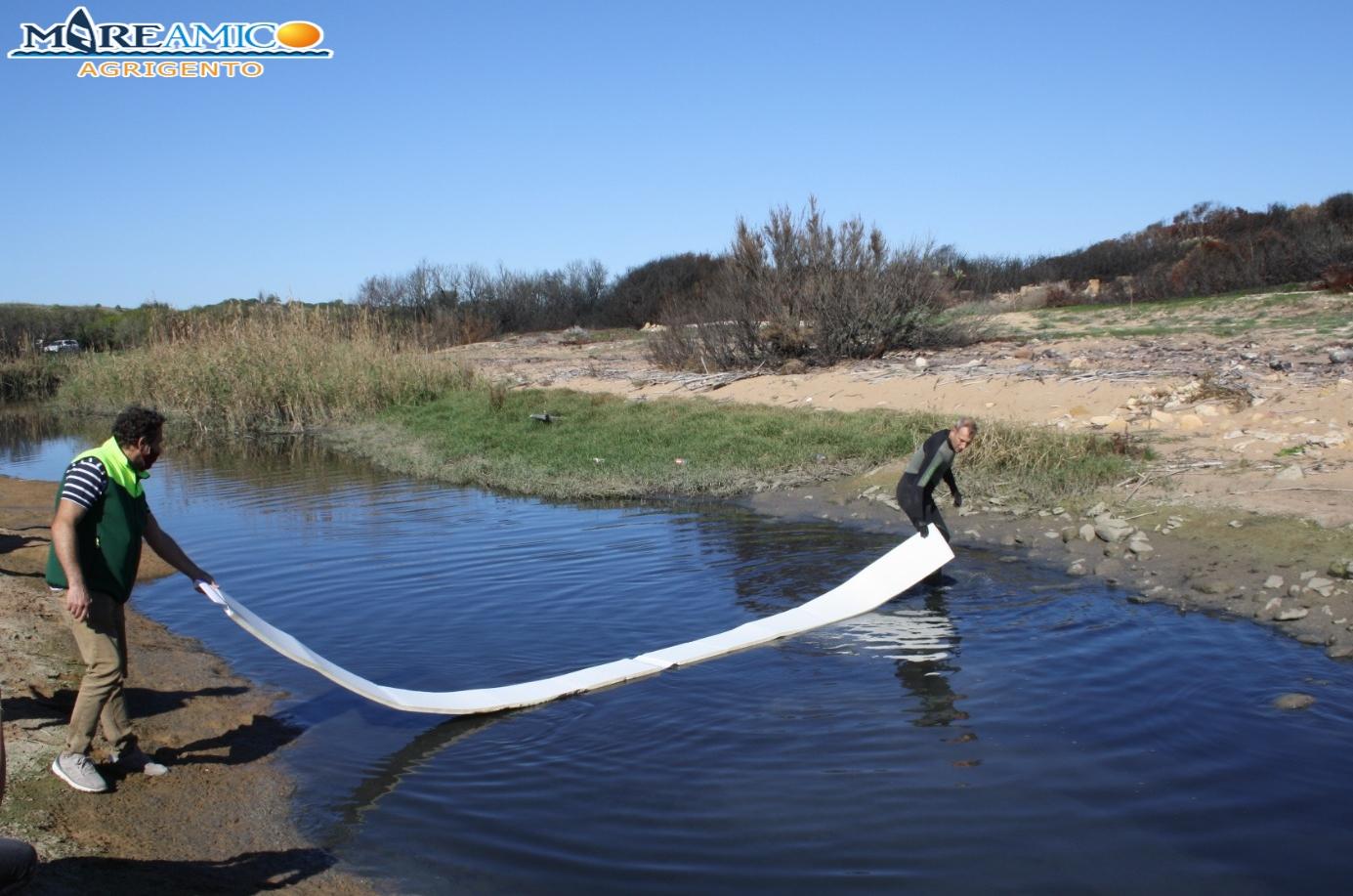 Disastro ambientale all'interno del parco archeologico: torrente Modione nero a causa delle fogne – FOTO e VIDEO