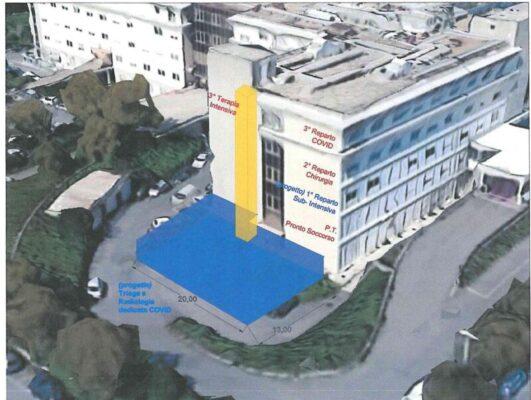 Coronavirus Catania, via i lavori per l'emergenza negli ospedali di Acireale e Caltagirone: le novità