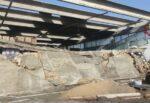 Tromba d'aria a Catania, parcheggio Interbus distrutto: inizia la messa in sicurezza, le FOTO degli interventi
