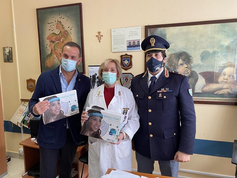 Emergenza Coronavirus a Catania, 1.500 visiere protettive consegnate alla Polizia di Stato