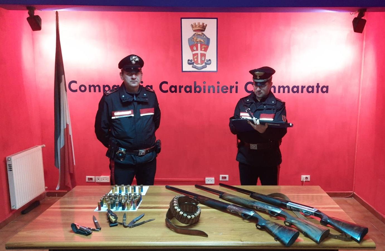 Cacciatori nel mirino dei controlli: catanesi beccati fuori dal Comune e con fucili vietati, sanzioni salate