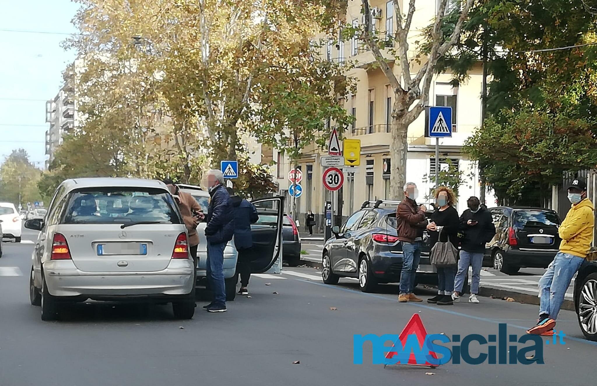 Catania, incidente stradale in corso Italia: tamponamento a catena e traffico rallentato