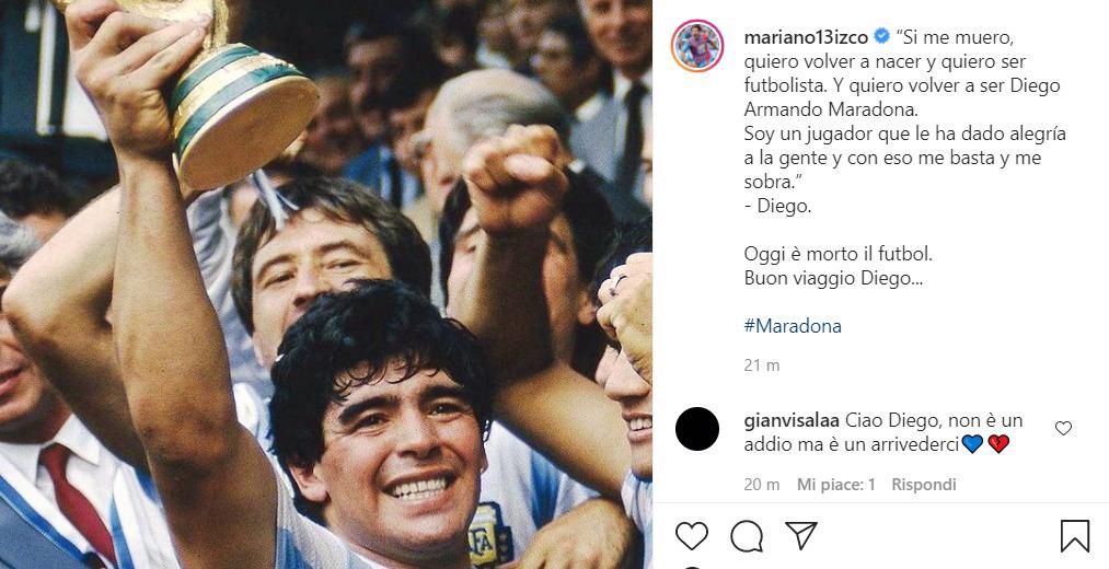 """Maradona, Izco e gli ex argentini del Catania ricordano il Pibe de Oro: """"Oggi è morto il futbol"""""""