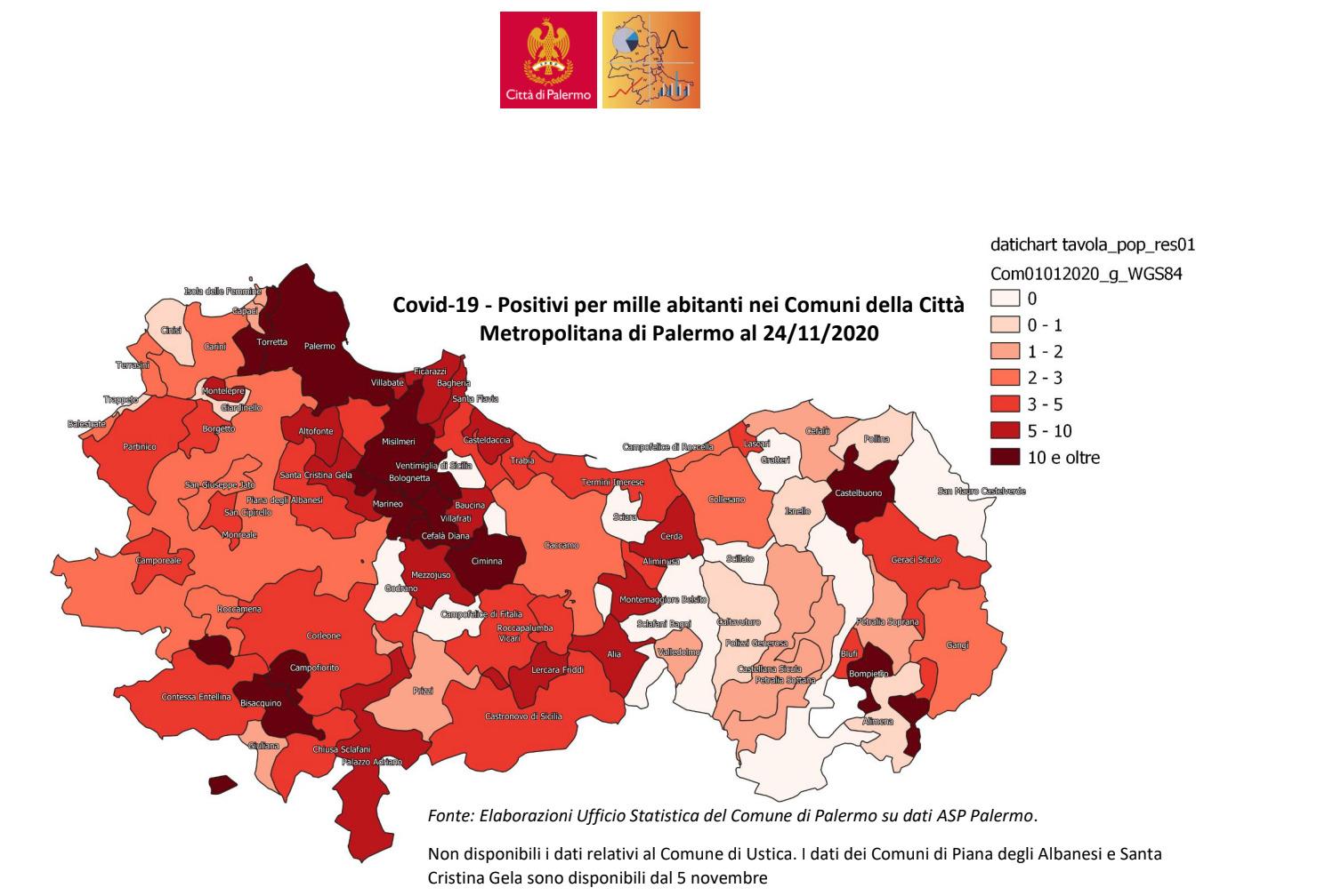 Coronavirus, a Palermo e provincia situazione in miglioramento: gli attuali positivi stanno diminuendo