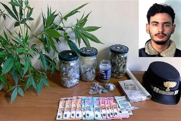 Catania: spacciava marijuana per le vie di Picanello, arrestato e rinchiuso giovane pusher del posto