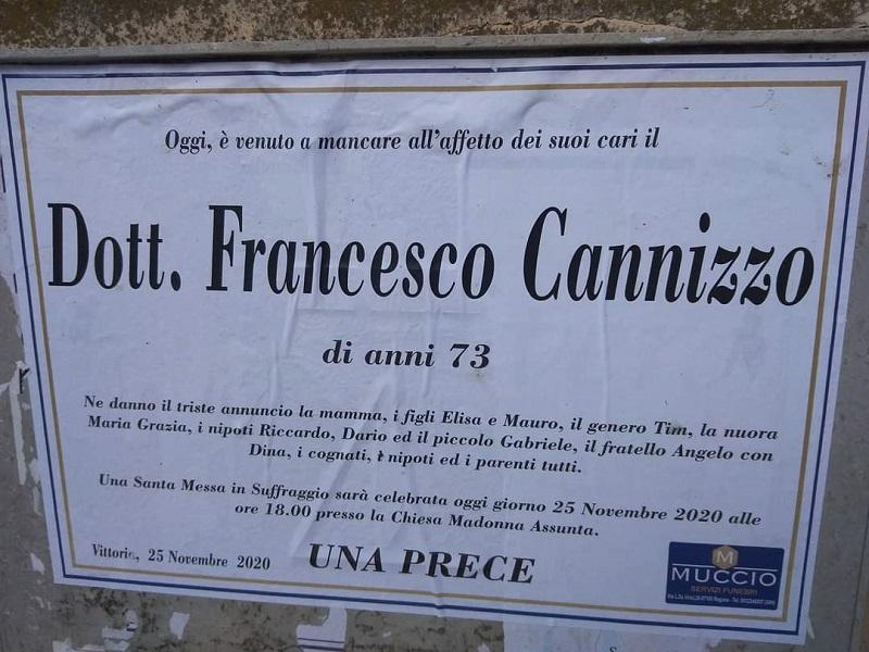 Coronavirus, dopo la moglie è morto Franco Cannizzo: stimato medico analista di Vittoria