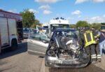 Incidente sulla SP 43, Nissan Patrol contro Mercedes Classe A: 3 feriti, uno trasportato in elisoccorso al Cannizzaro