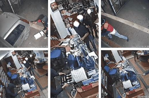 Rapina violenta in un bar, 43enne sfonda saracinesca con auto per salvare il figlio con i soldi: 3 arresti – VIDEO