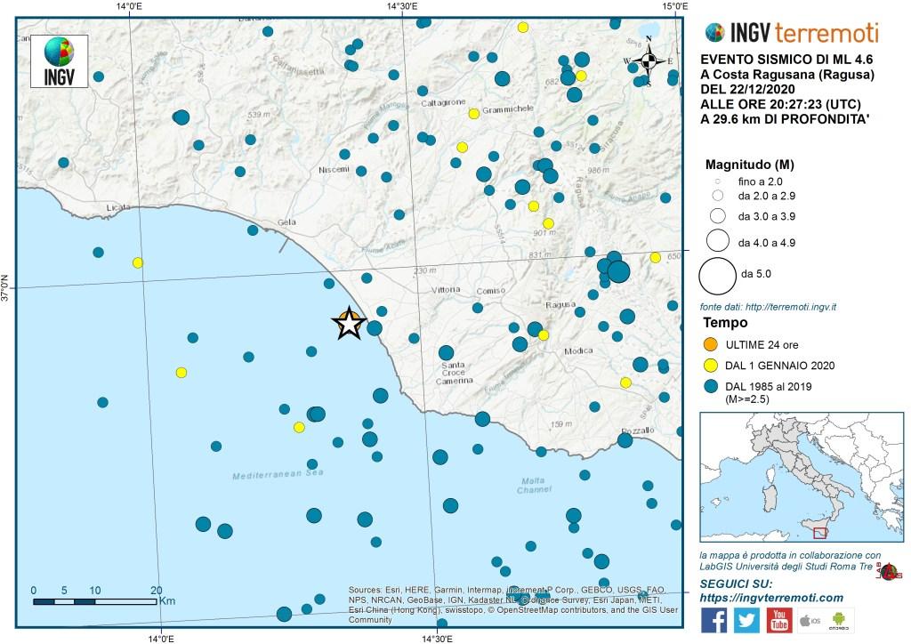 L'Ingv spiega il terremoto di Ragusa, pericolosità sismica e rischi: chiarimenti e grafici