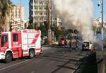 Catania, auto in fiamme in piazza dei Martiri: alta coltre di fumo 'preoccupa' i cittadini