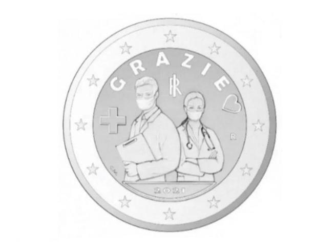 Coronavirus, moneta da 2 euro omaggia i medici e infermieri: 3 milioni di esemplari in arrivo nel 2021