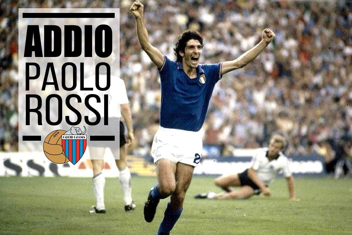 """Paolo Rossi, anche il Calcio Catania omaggia il simbolo dei Mondiali spagnoli: """"Eroe azzurro per sempre"""""""