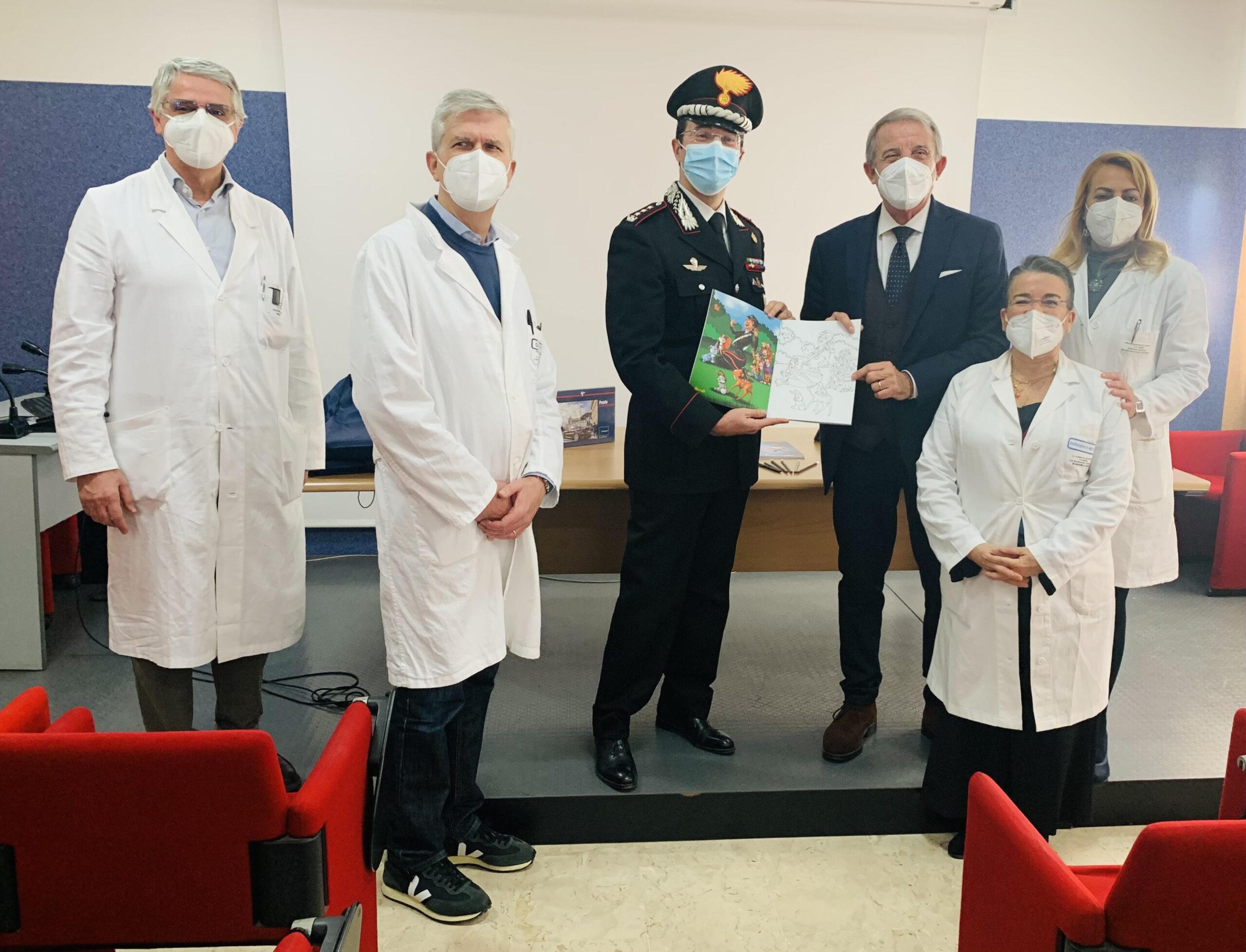 """Catania, doni per i bimbi ricoverati nella Pediatria del Garibaldi. Col. Coppola: """"Rafforziamo clima di fiducia"""""""