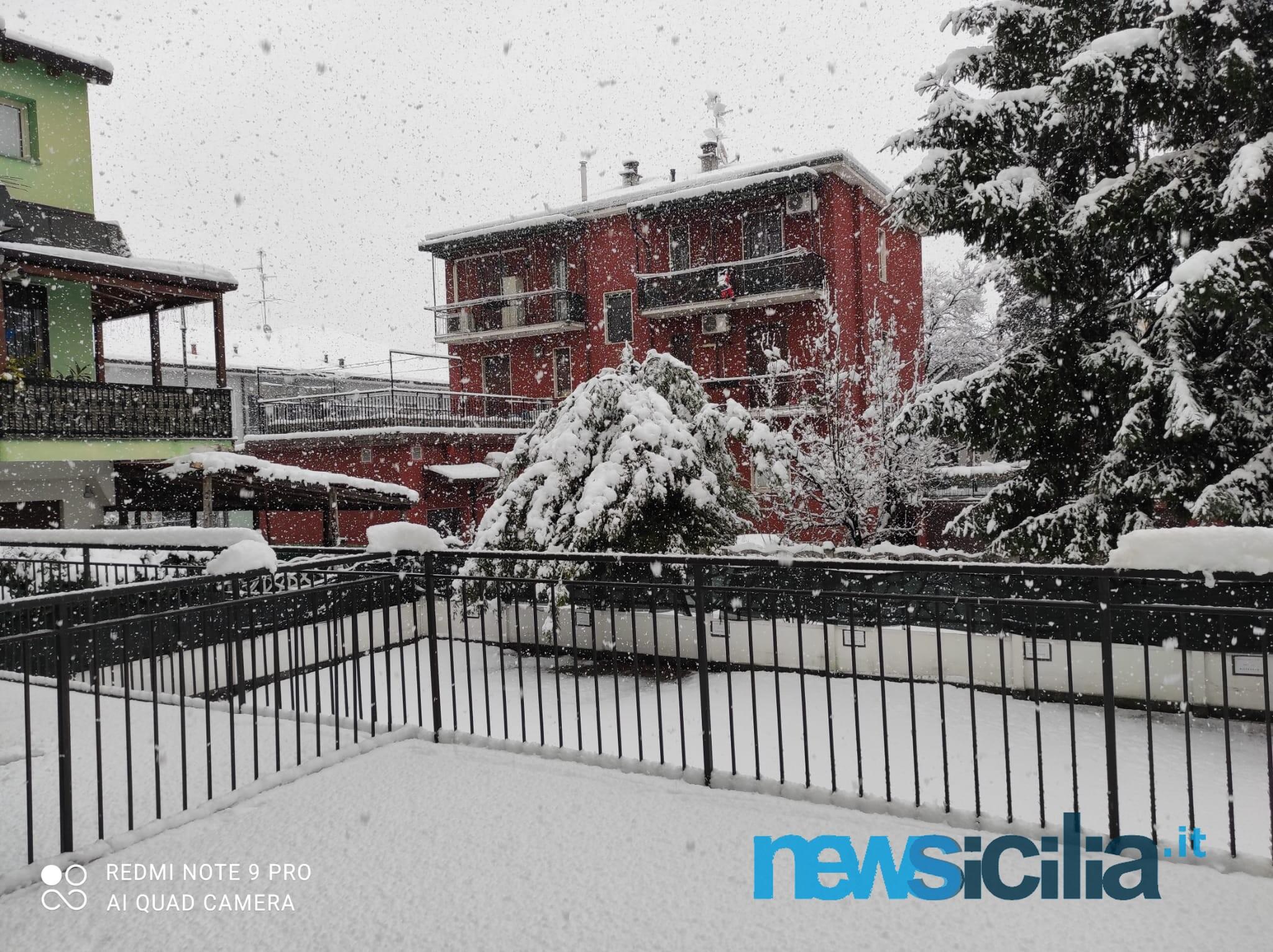 Maltempo a Milano e provincia, nevicata senza precedenti: alberi precipitati e disagi – Le FOTO e il VIDEO