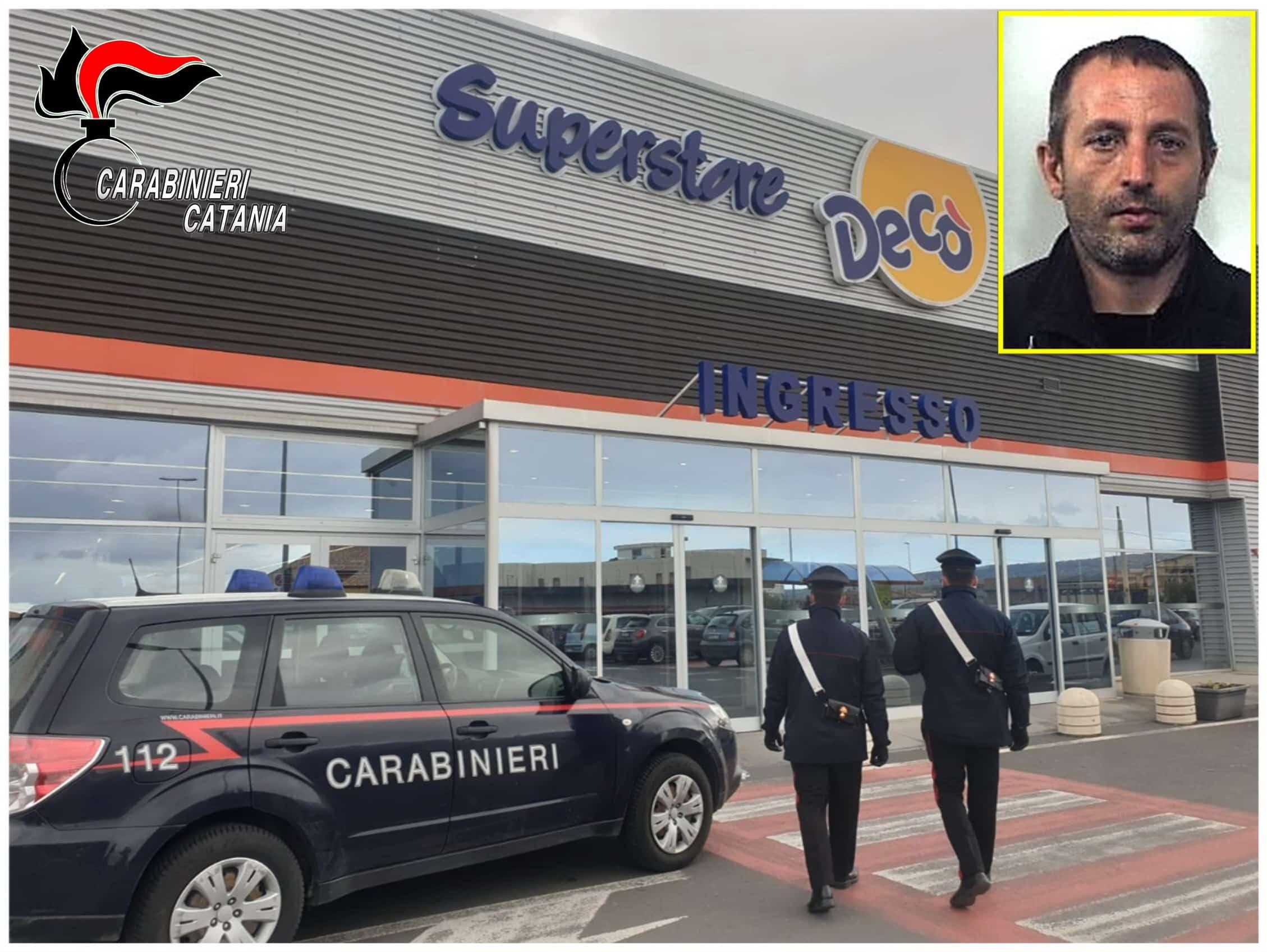 Furto aggravato in un Decò del Catanese, bottino dal valore di 100 euro: arrestato Vincenzo Bauso