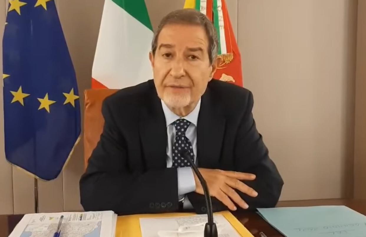 """Coronavirus Sicilia, Musumeci richiama i cittadini: """"Assumiamoci responsabilità, non bado al consenso"""" – VIDEO"""