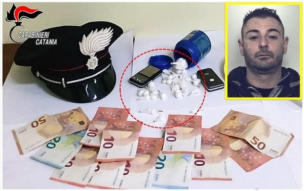 Riposto, pusher con 34 dosi di cocaina nello scooter: Antonino Bonaccorso in carcere