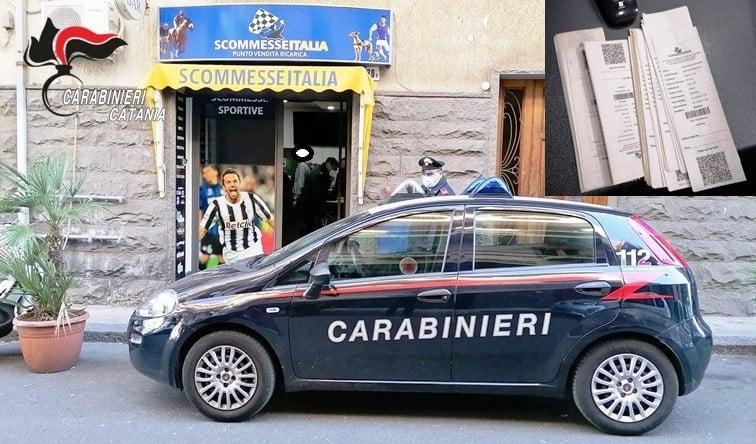 Catania, centro scommesse di Picanello aperto irregolarmente: sanzionati titolare e cliente