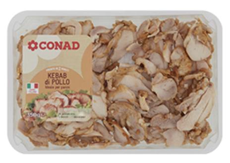 Frammenti di plastica nel kebab di pollo marchio Conad: non consumare il lotto interessato e restituirlo