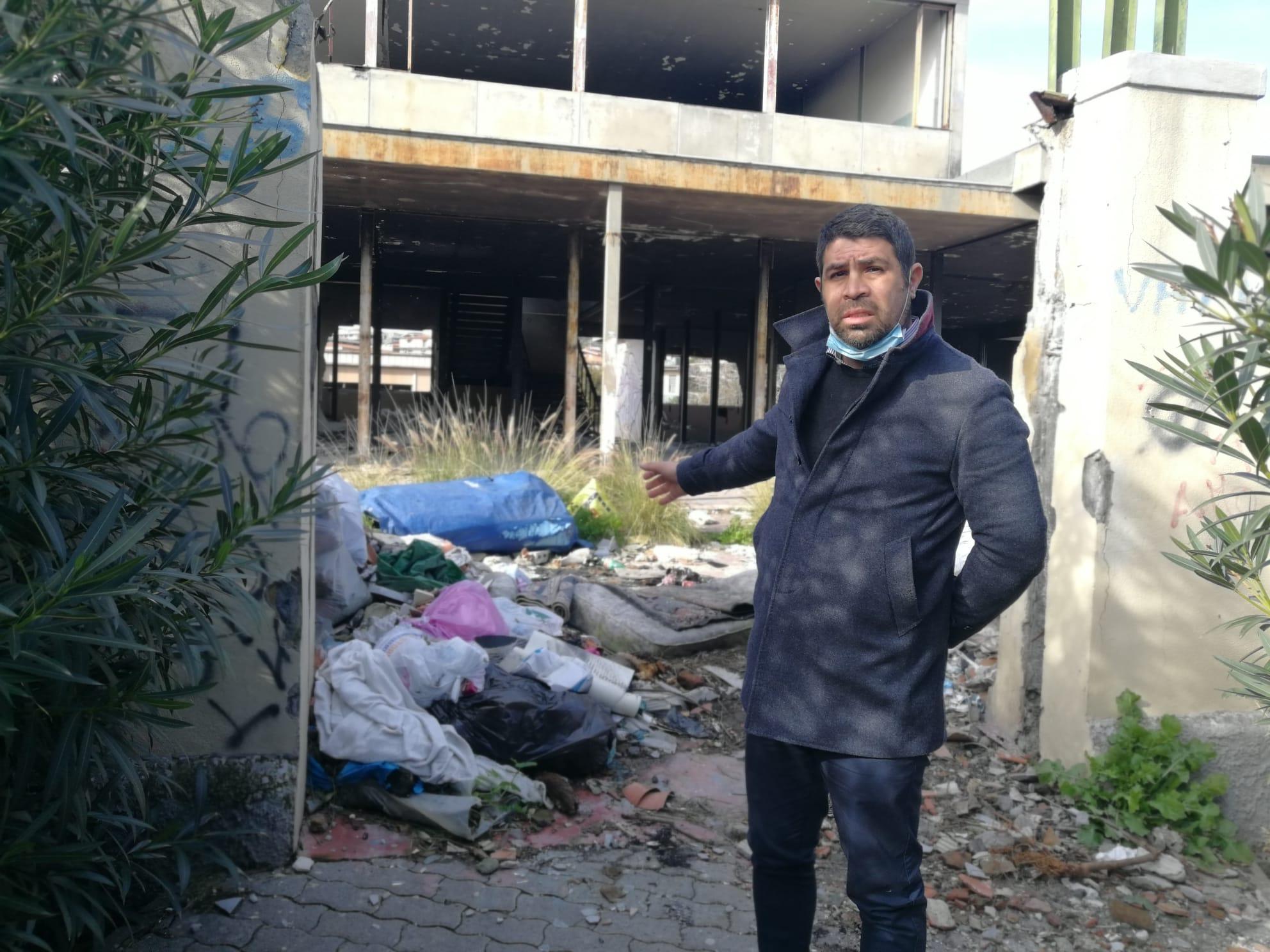 """Catania, ex scuola """"Capponi-Recupero"""": il consigliere Cardello chiede di mettere in sicurezza l'intera area"""
